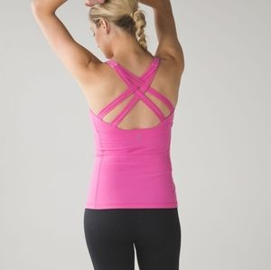 Lululemon Enhearten Tank Top Yoga Activewear Pink